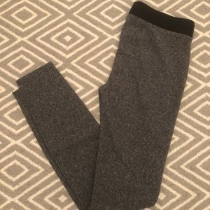 Madewell Grey knit leggings size Small